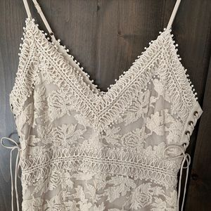 Adelyn Rae Lace/Crochet Lace up Dress